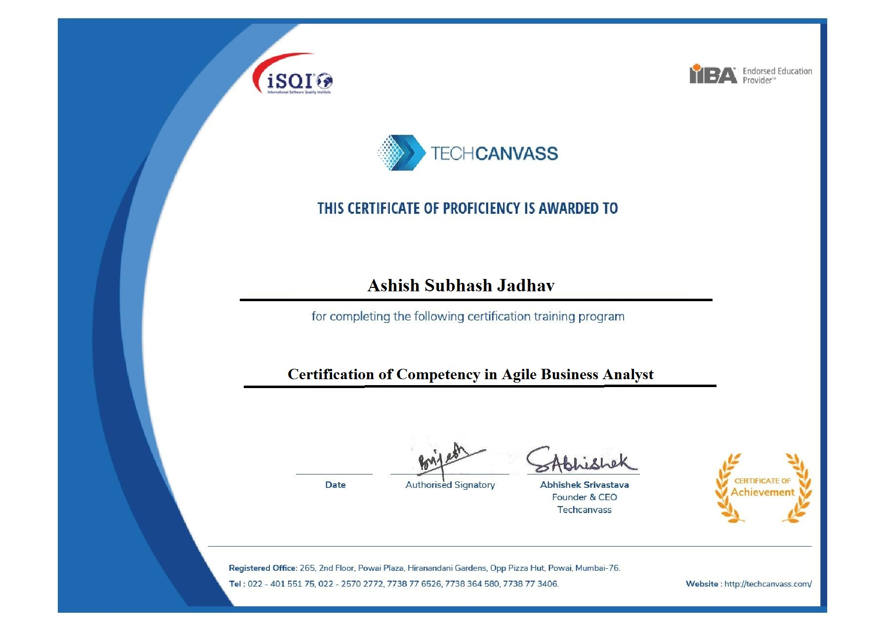 Agile Analysis Certification Aac Course From Iiba